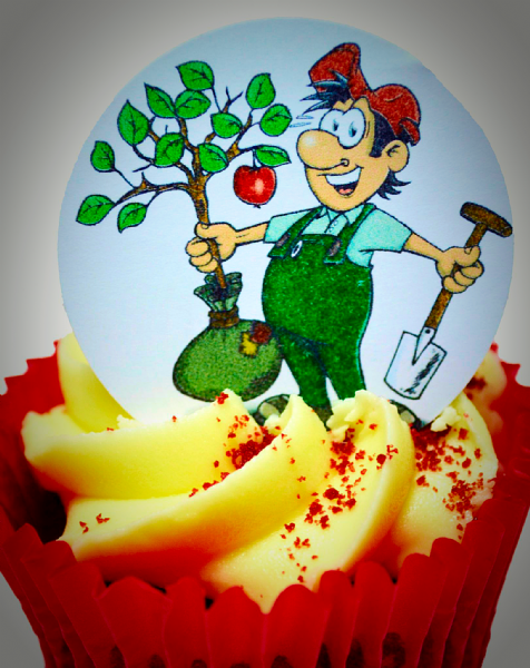 Edible cake toppers decoration - Gardener/Gardening